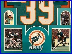 Framed Miami Dolphins Larry Csonka Autographed Signed Jersey Jsa Coa