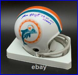 Garo Yepremian SIGNED TB Miami Dolphins Mini Helmet SB Champ PSA/DNA AUTOGRAPHED