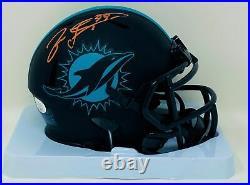 Jason Taylor Autographed Miami Dolphins Eclipse Speed Mini Helmet JSA Authent
