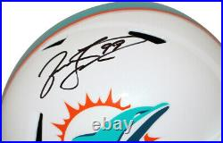 Jason Taylor Autographed/Signed Miami Dolphins F/S Speed Helmet JSA 28296
