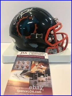 Jason Taylor Autographed Signed Miami Dolphins Speed Mini Helmet Jsa Coa