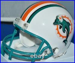 Jason Taylor Autographed Throwback Mini Helmet Miami Dolphins Hof 2017 Jsa