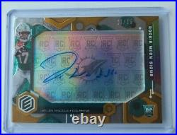 Jaylen Waddle 2021 Elements Neon Signs On Card Auto #/75 RC Miami DOLPHINS