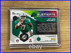 Jaylen Waddle 2021 Elements ROOKIE NEON SIGNS RED AUTO /25 Dolphins