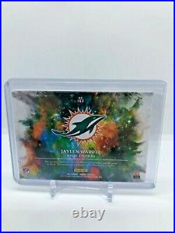 Jaylen Waddle 2021 Panini Origins Football NFL RC Patch Auto RPA 04/49 3 color