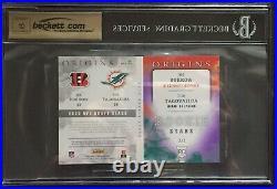 Joe Burrow Tua Tagovailoa 2020 Panini Origins Rookie Star RC Booklet RPA Auto /2