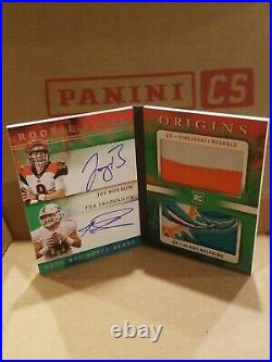 Joe BurrowithTua Tagovailoa Rookie On Card Auto Patch Booklet #/5 SSP INVESTMENT