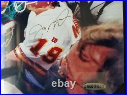 Joe Montana & Dan Marino Signed 8x10 Photo Uda Upper Deck With Hologram & Coa