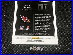Josh Rosen 2018 Impeccable 1/1 Dual NFL Shield Rookie Logo Patch Auto RPA RC