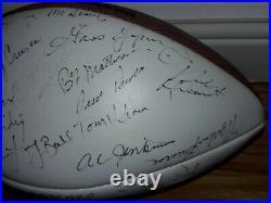 Jsa 45 Auto 1972 Super Bowl Champion Miami Dolphins Team Signed Football Perfect