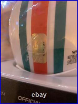 Larry Csonka Autographed/Signed Mini Helmet Miami Dolphins. GRIDIRON COA