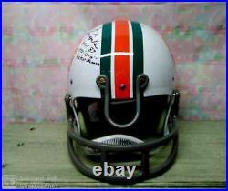 Larry Csonka Signed Custom 72 Dolphins Tk Helmet Hof 87 17-0 Jsa