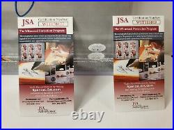 MIAMI DOLPHINS ZACH THOMAS & JASON TAYLOR SIGNED 16x20 PHOTO JSA COA