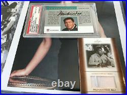 MUHAMMAD ALI AUTO PSA 8 1992 PRO LINE PORTRAITS AUTOGRAPH AUTHENTIC signed WORN