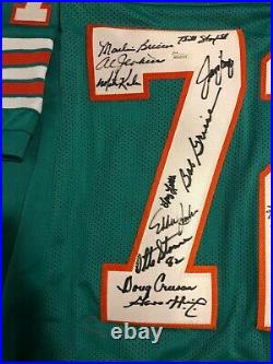 Miami Dolphins 1972 Perfect Season Autographed Jersey JSA Certified 22 Signature