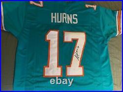 Miami Dolphins Allen Hurns Signed Custom Throwback Jersey Jsa Witness Coa