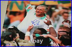 Miami Dolphins Don Shula Signed 16x20 Photo Hof 1997 Jsa Certified 17-0