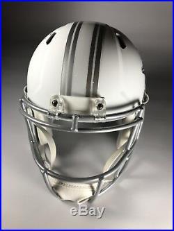 Miami Dolphins Don Shula Signed Full Size Helmet White Ice Speed Replica LOJO