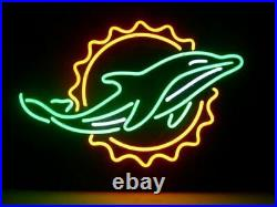 Miami Dolphins Logo Neon Light Sign 17x14 Lamp Beer Bar Pub Glass Decor