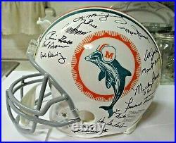 Miami Dolphins Perfect Season Autographed (26) Authentic Helmet JSA