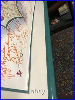 Miami Dolphins Perfect Season Signed Lithograph Poster 51/1972 Coa Ron Lewis