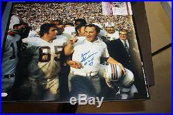 Miami Dolphins Signed 16x20 Photo Of Don Shula Hof 1972 17-0 Jsa