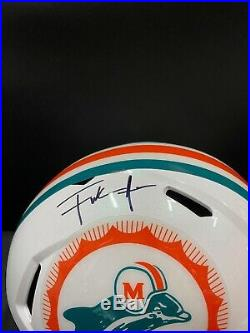 Miami Dolphins Throwback Frank Gore Signed Full Size Helmet Jsa Witness Coa