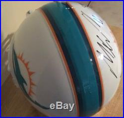 Mile Wallace Signed And Inscribed Full Size Miami Dolphins Helmet