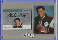 Muhammad Ali Certified 1992 Pro Line card pristine autograph hand signed