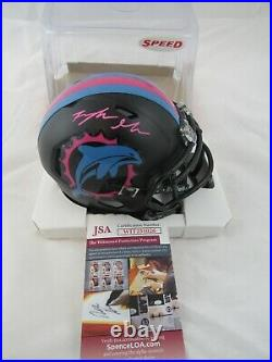 Myles Gaskin Miami Dolphins Miami Vice Mini Helmet JSA Signed Autographed