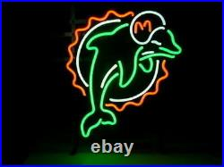 New Miami Dolphins Neon Light Sign 17x14 Beer Cave Gift Bar Decor