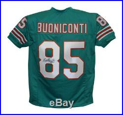 Nick Buoniconti Autographed/Signed Pro Style XL Teal Jersey HOF JSA 21355