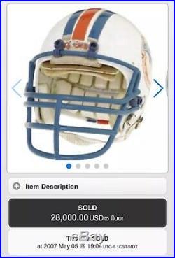 RARE Dan Marino ROOKIE Authentic Proline Game Issue Helmet Dolphins Signed Auto