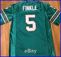 RAY FINKLE Ace Ventura Miami Dolphins Jersey Signed Sean Young Dan Marino PROOF