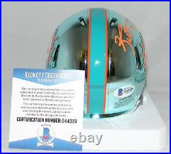 RICKY WILLIAMS SIGNED MIAMI DOLPHINS CHROME MINI HELMET With SMOKE WEED EVERYDAY