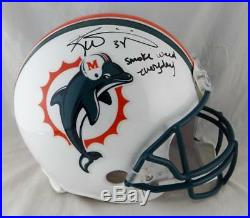 Ricky Williams Autographed Miami Dolphins F/S ProLine Helmet with Smoke Weed- JSA