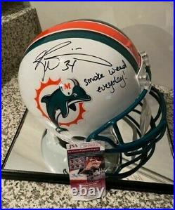 Ricky Williams, Miami Dolphins, Full Size Replica Helmet, SWE signed, Deal