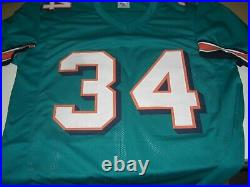 Ricky Williams Miami Dolphins Full Stats Smoke Weed Teal Jsa/coa Signed Jersey