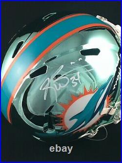 Ricky Williams Miami Dolphins Signed Full Size Chrome Replica Helmet JSA COA