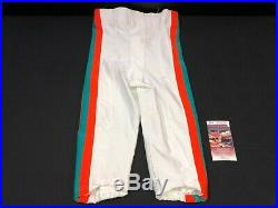 Ricky Williams Miami Dolphins Signed Game Used Reebok Throwback Pants Jsa Coa