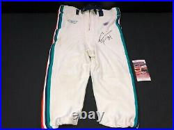 Ricky Williams Miami Dolphins Signed Game Used Reebok White Pants Jsa Witness