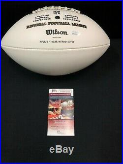 Ricky Williams Miami Dolphins Signed NFL White Logo Football Jsa Coa Wp376092