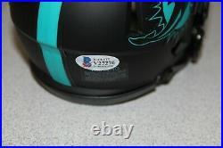 Ricky Williams Signed Auto Eclipse Speed Mini Helmet Bas #v27276 Miami Dolphins