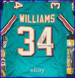 Ricky Williams Signed Autographed Custom Jersey with Smoke Weed Everyday JSA