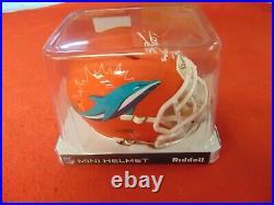 Ricky Williams Signed Dolphins AMP Mini Helmet, Smoke Weed Everyday, JSA COA