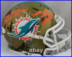 Ricky Williams Signed Dolphins Camo Speed Mini Helmet withSWED Beckett W Auth