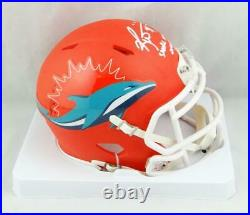 Ricky Williams Signed Miami Dolphins AMP Mini Helmet withSWED- JSA W Auth White