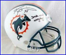 Ricky Williams Signed Miami Dolphins Autographed Riddle Replica Full Helmet JSA