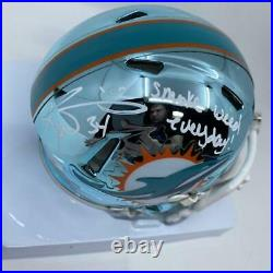 Ricky Williams Signed Miami Dolphins Chrome Mini-Helmet Smoke Weed Everyday