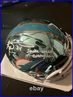 Ricky Williams Signed Miami Dolphins Chrome Mini Helmet With SWED- JSA Visor